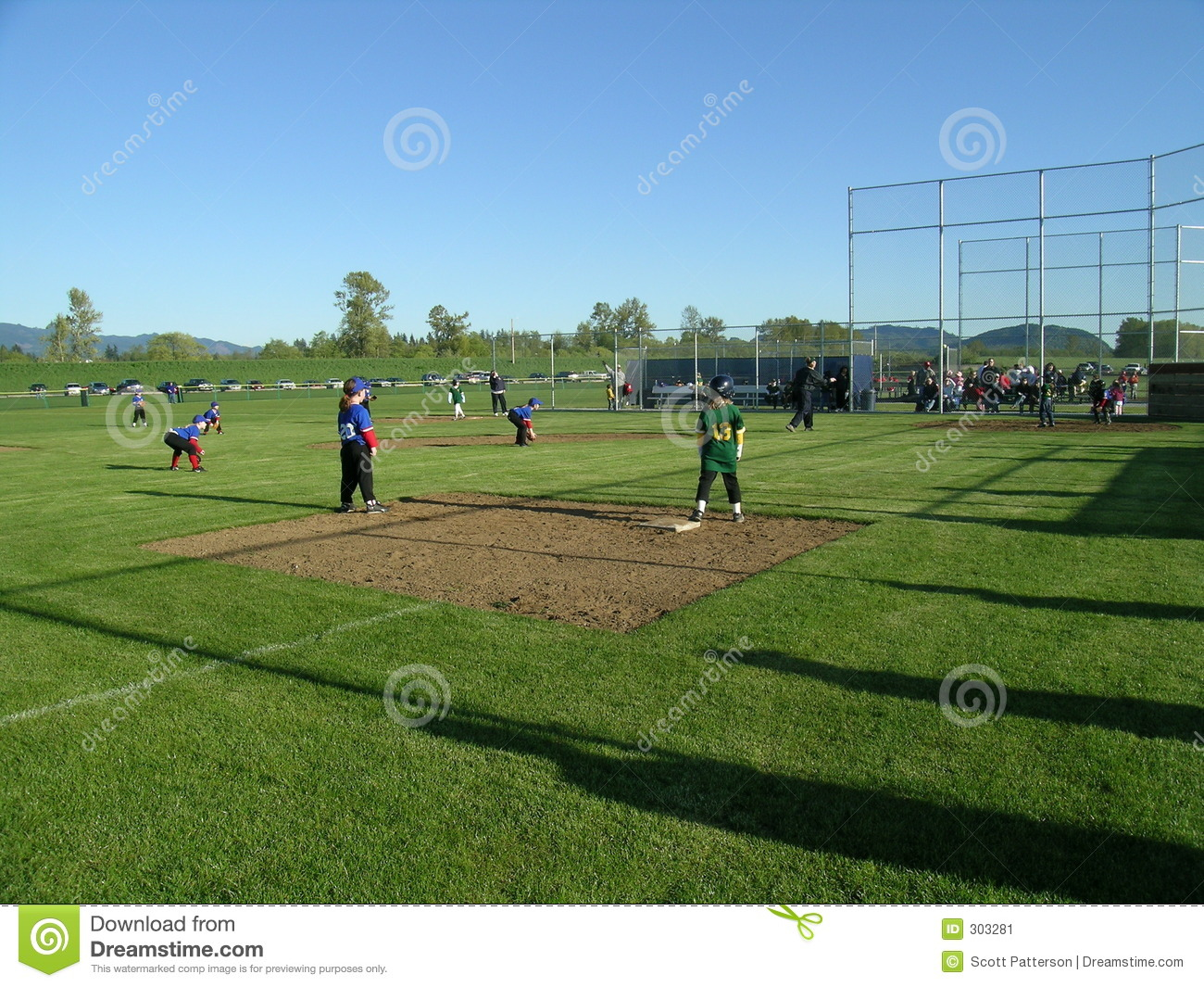 Kids Playing Baseball Stock Image Image 303281