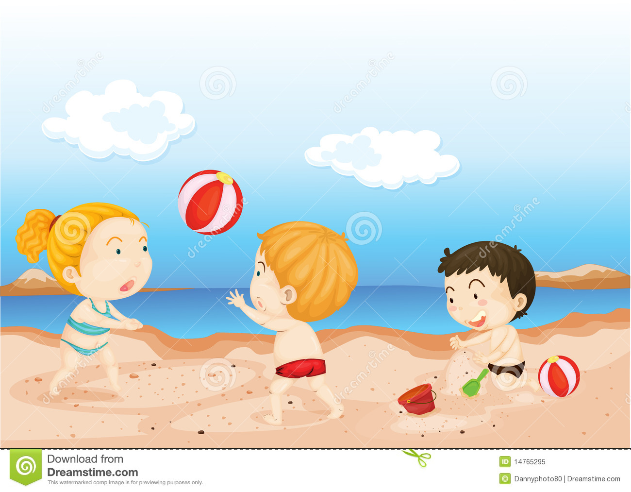 Beach Clipart For Kids Kids playing on beachKids Playing On The Beach Clipart