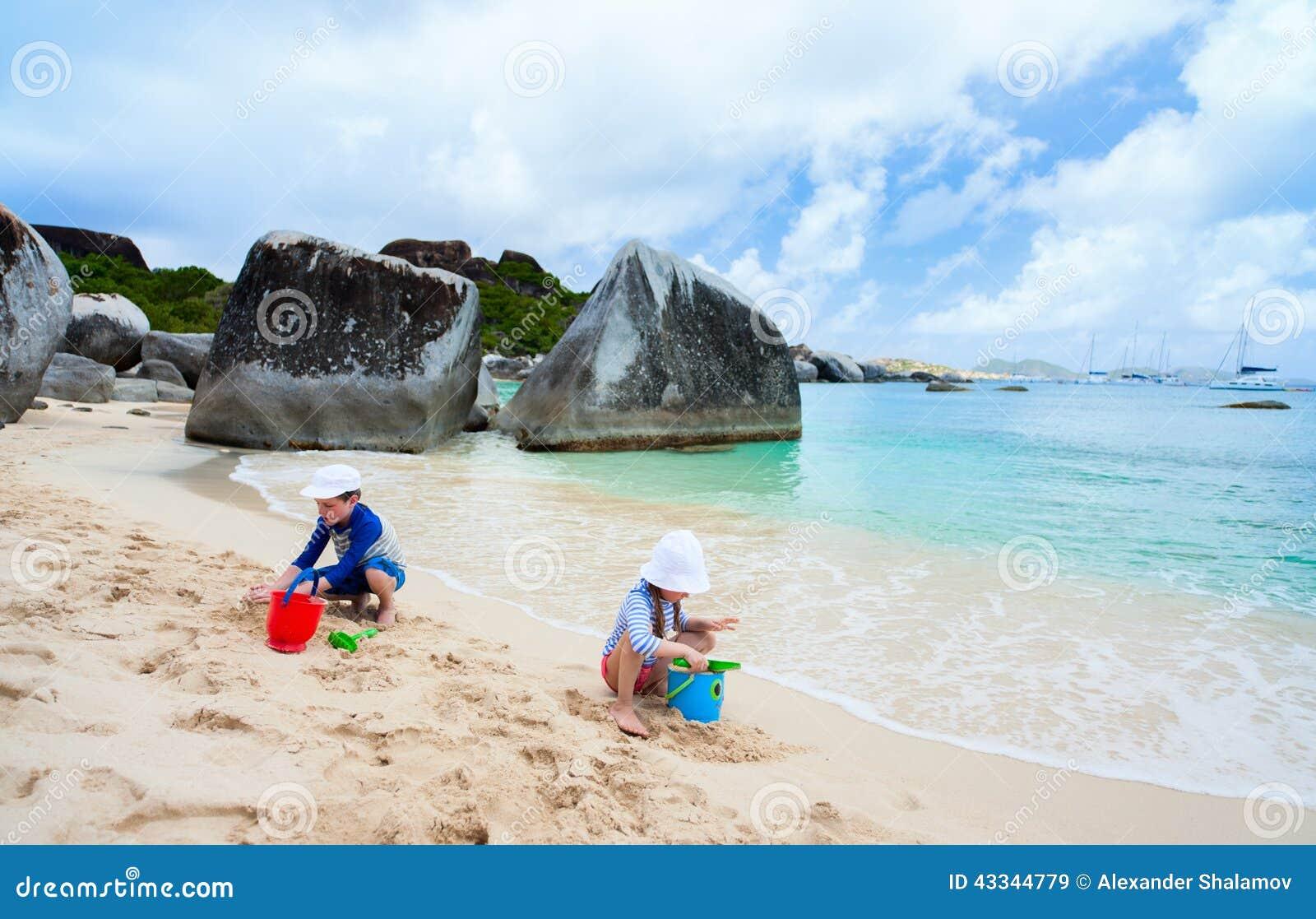Kids Playing At Beach Stock Photo Image 43344779