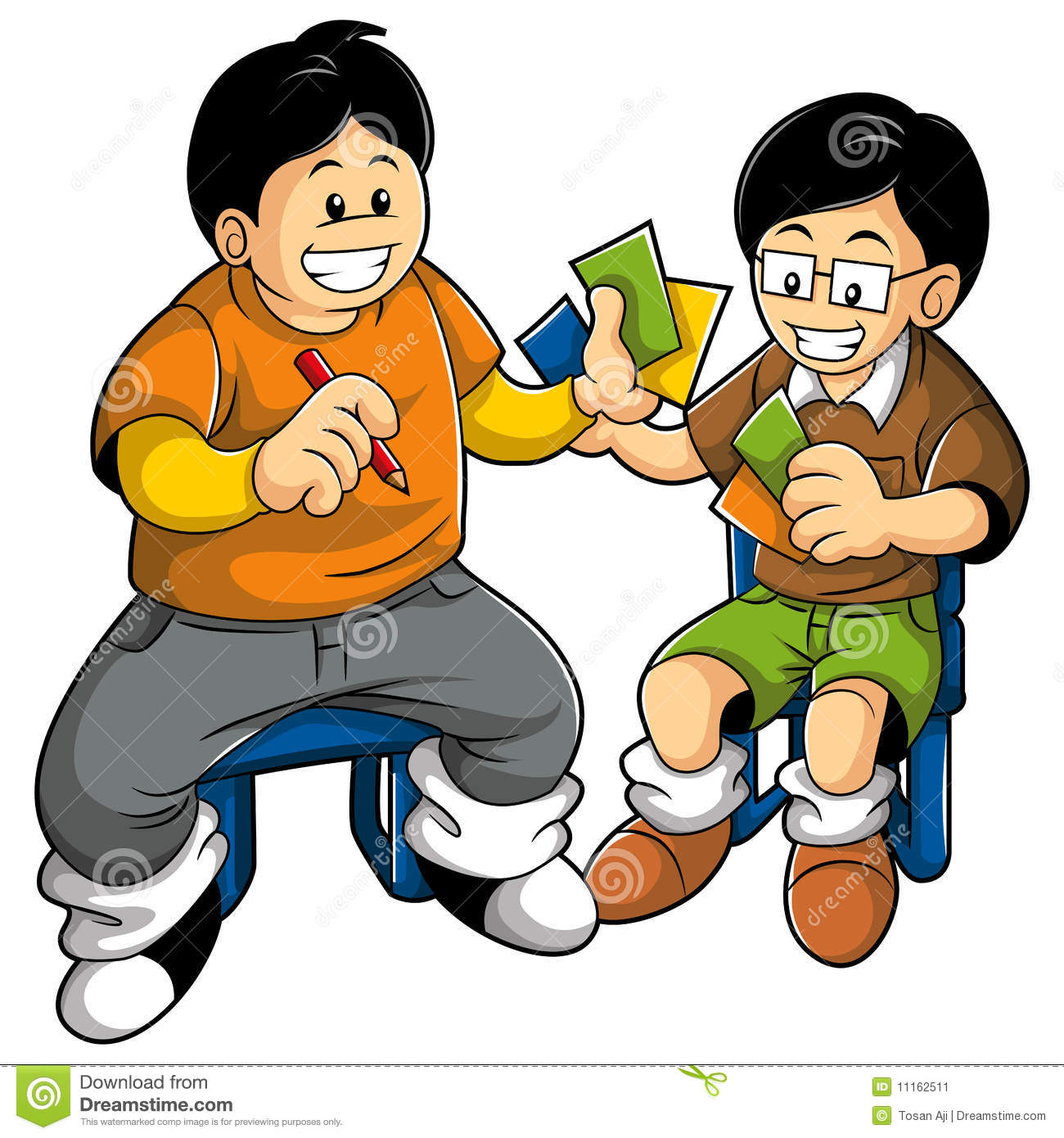 Kids Playing Cards Clip Art Kids playing card
