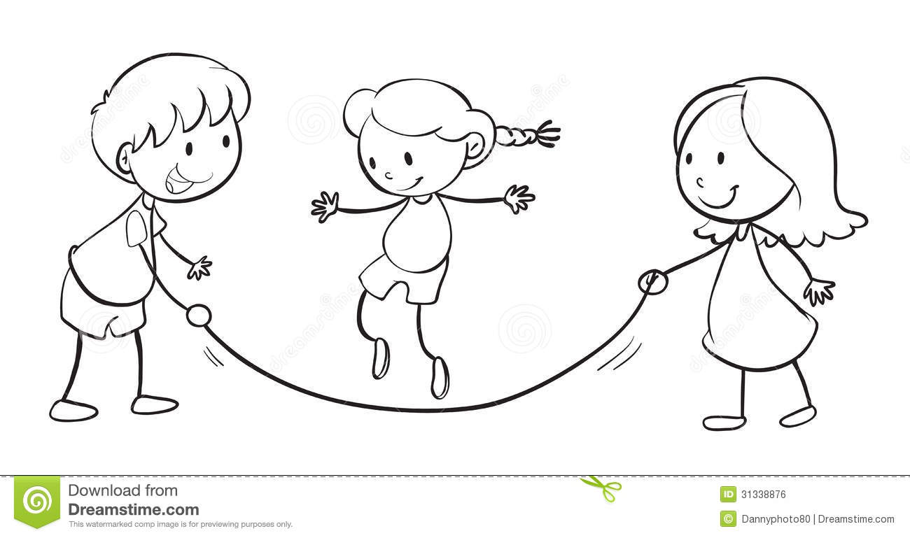 Kids Playing Stock Vector. Illustration Of People Girl - 31338876