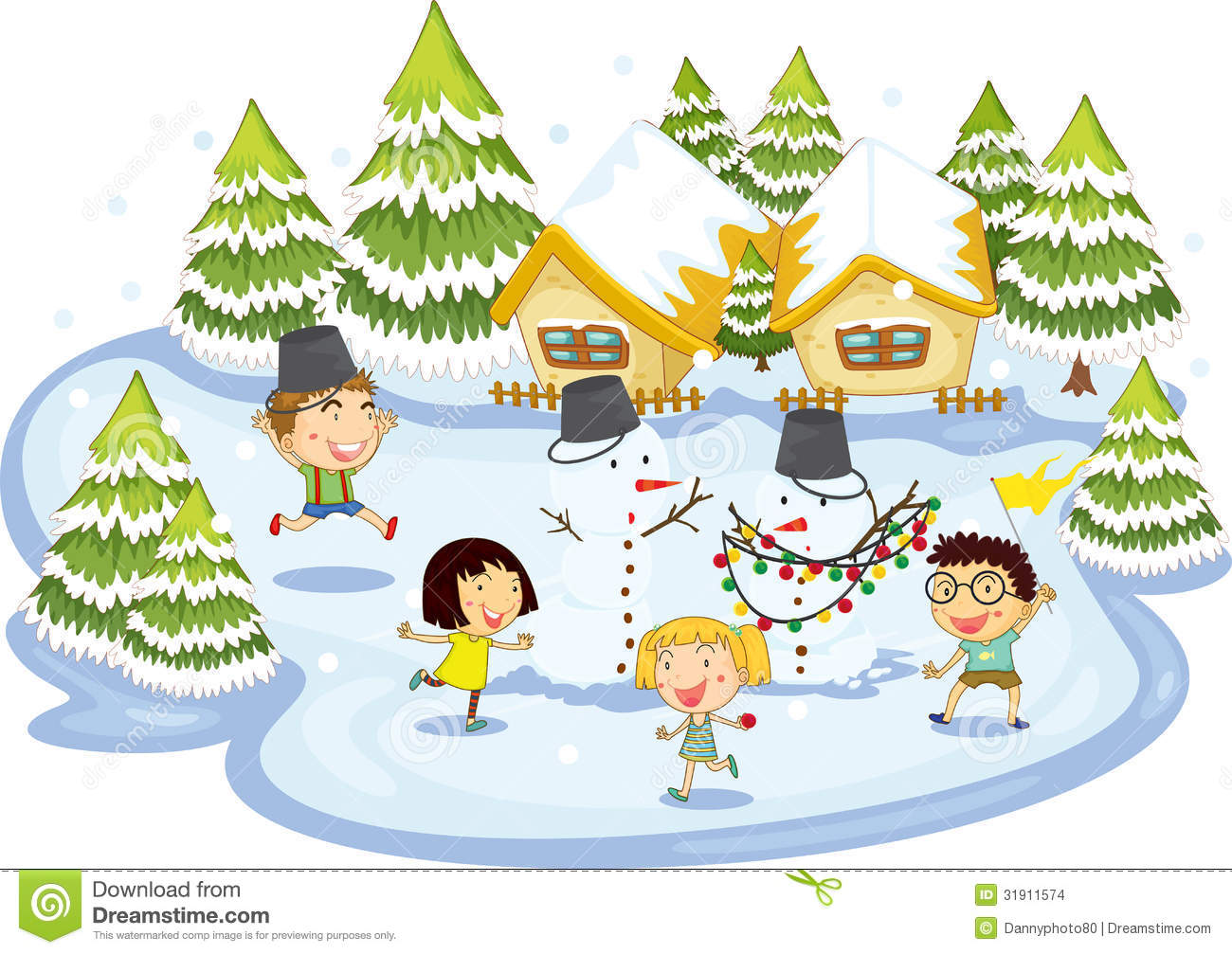Kids Christmas Play Clipart