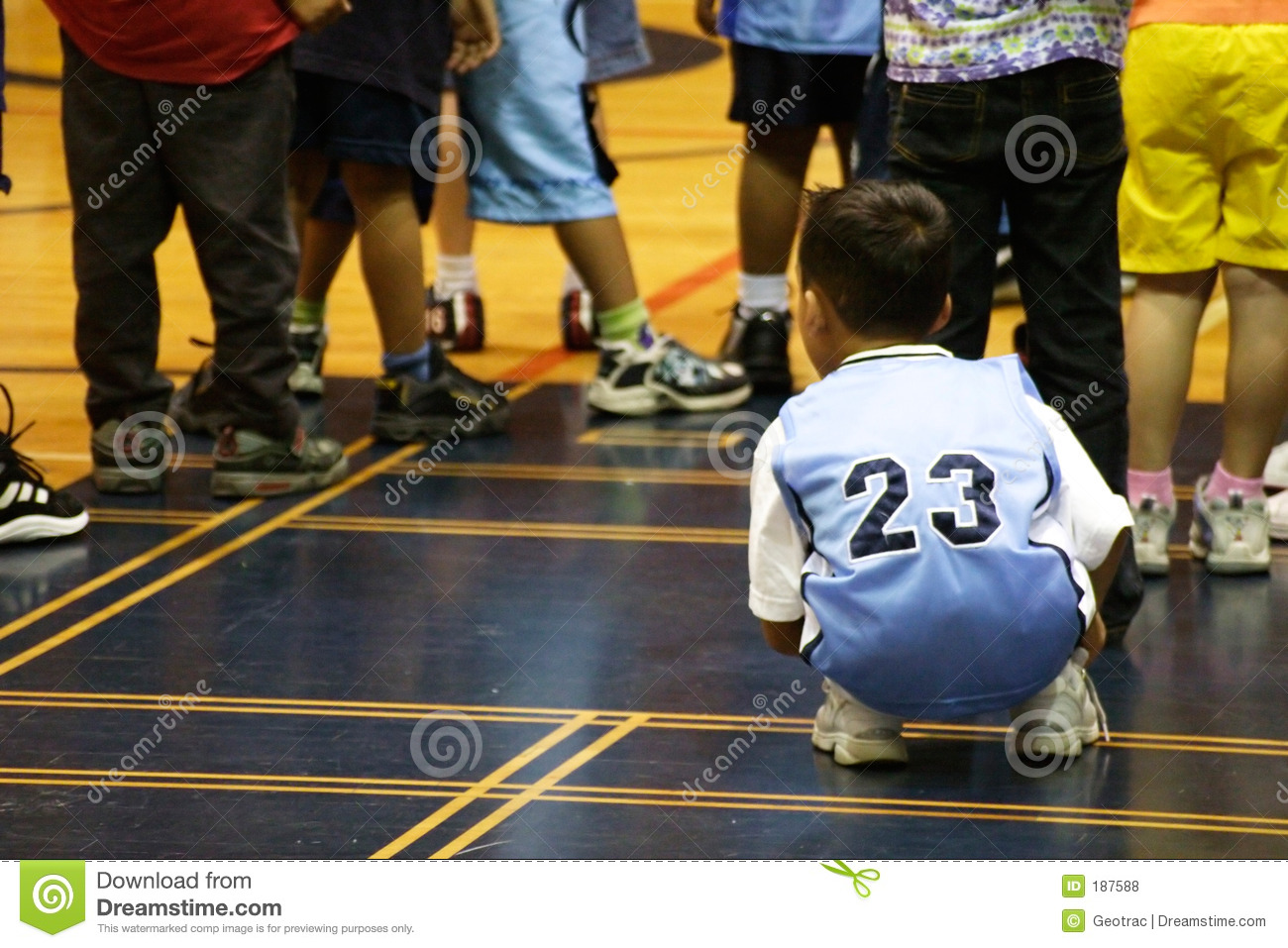 Kids playing in the Gym
