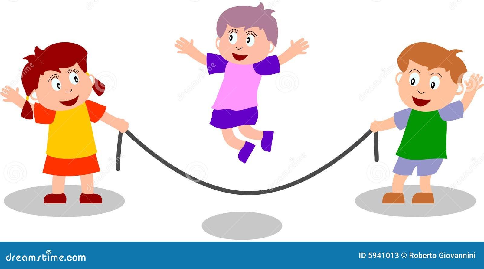 Kids Jump Rope Cartoon