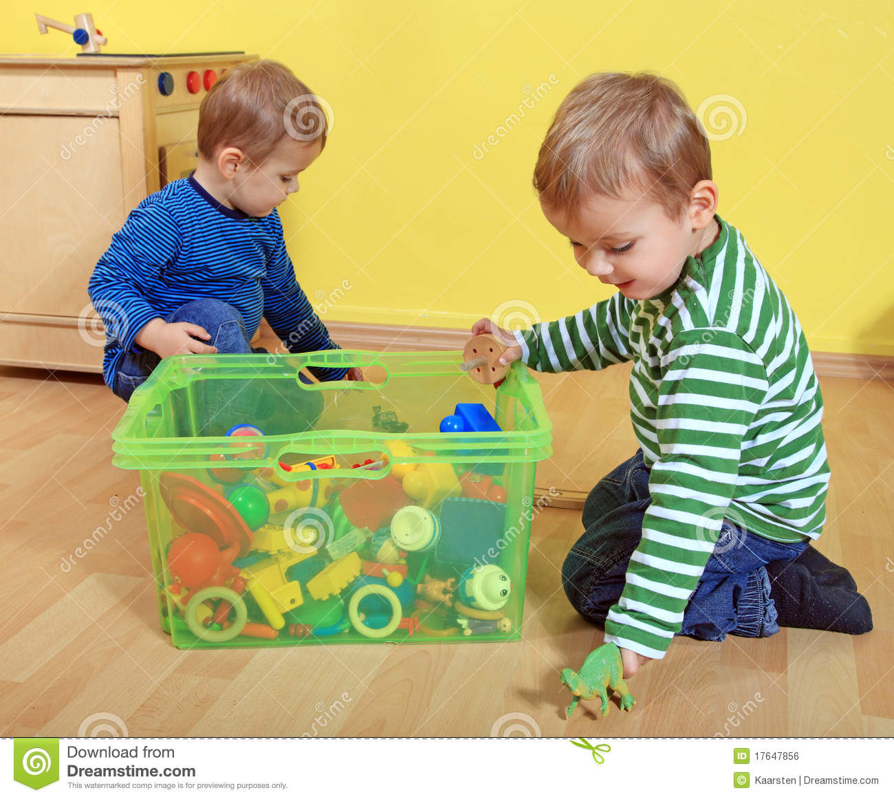 kids playing in kindergarten royalty free stock image. Black Bedroom Furniture Sets. Home Design Ideas