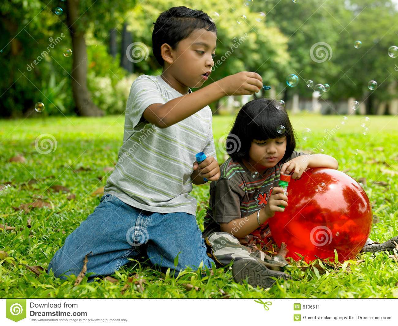 Kids playing in a park stock image. Image of cute, indian ...