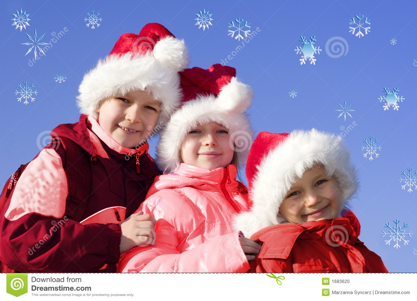 Kids playing santa claus stock photo image of children