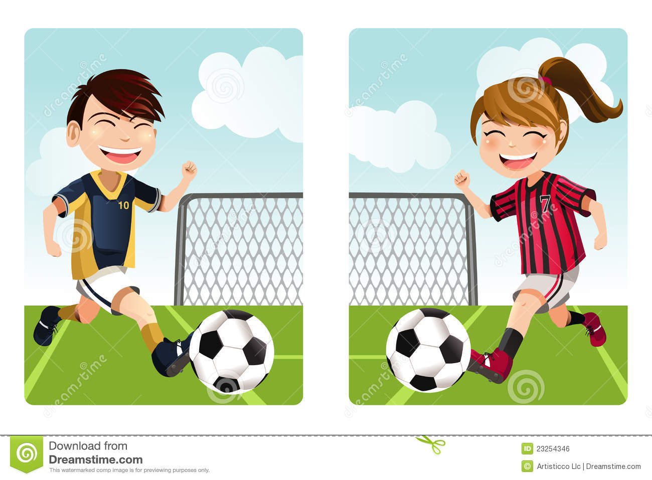 Playing Soccer Clip Art Vector Playing Soccer  571
