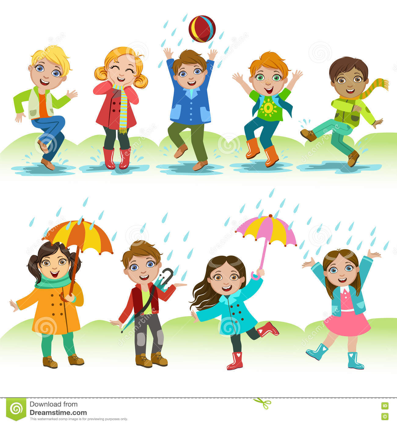 kids playing under the rain stock vector illustration of Dancing in the Rain Photography Me Dancing in the Rain
