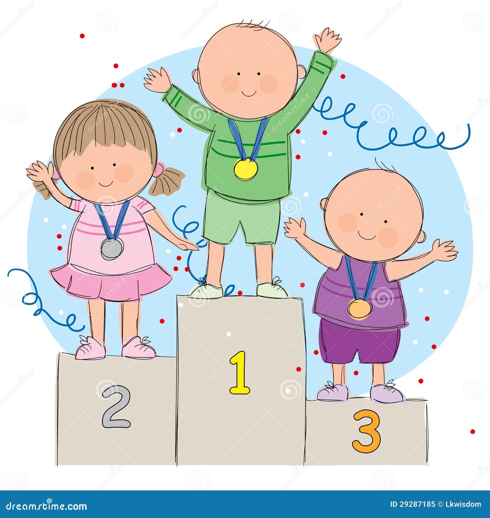kids on podium royalty free stock photo   image 29287185
