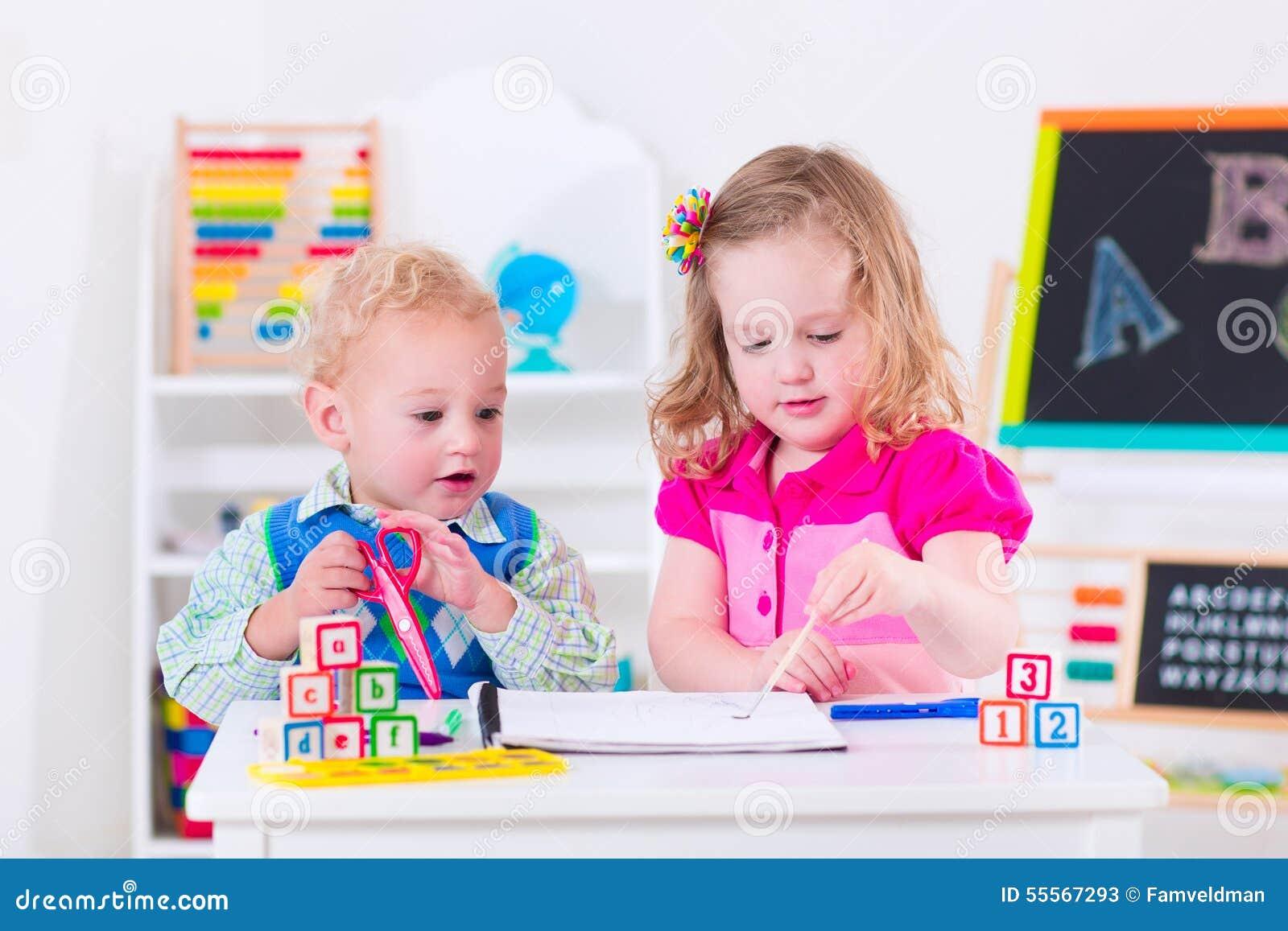 when do children go to preschool at preschool painting stock image image of happy 959
