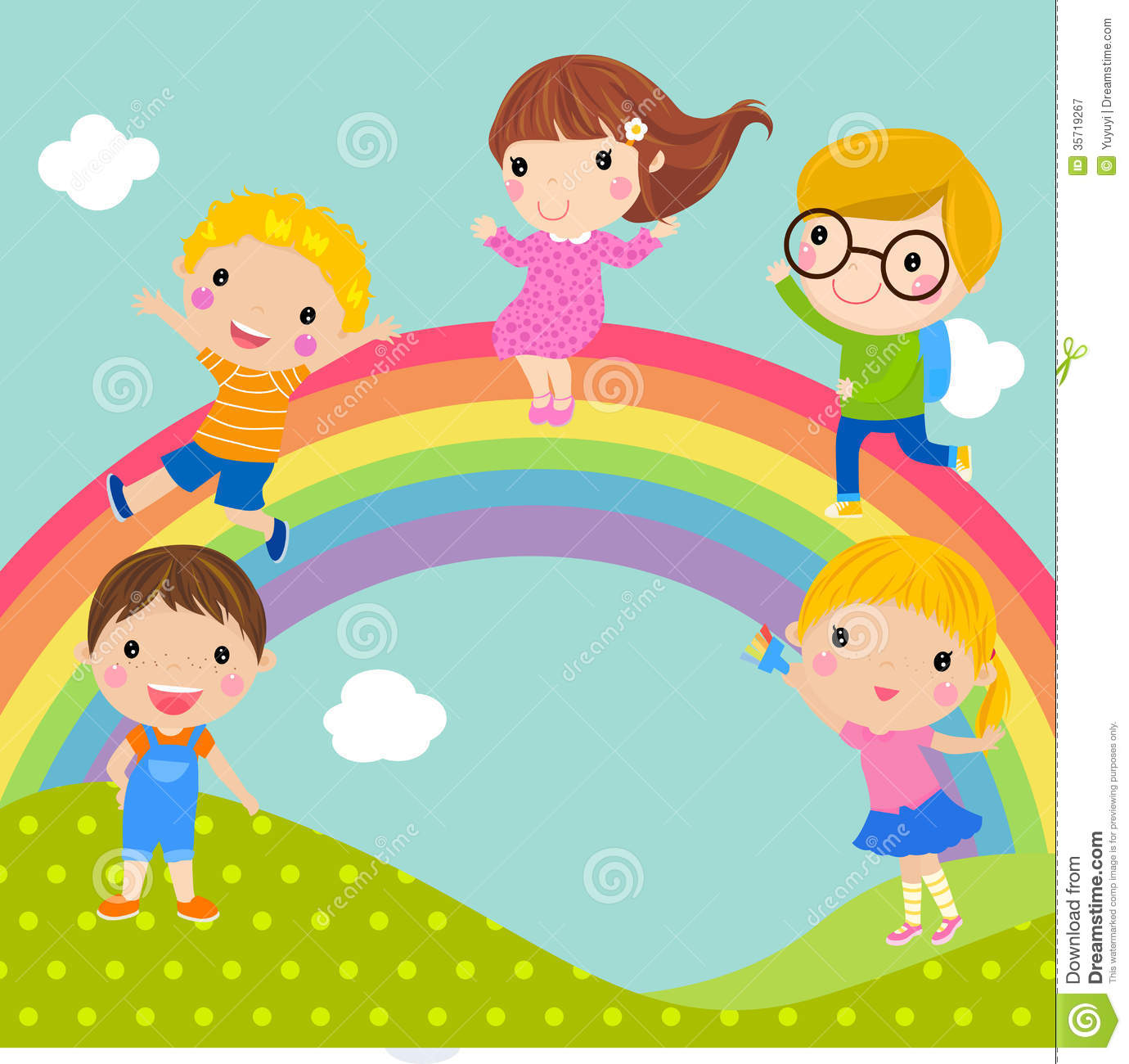 Program To Draw House Plans Kids And Rainbow Royalty Free Stock Photography Image