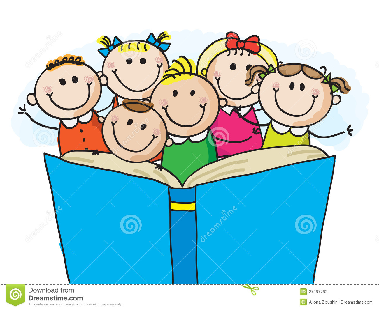 kids reading stock vector. illustration of characters - 27387783