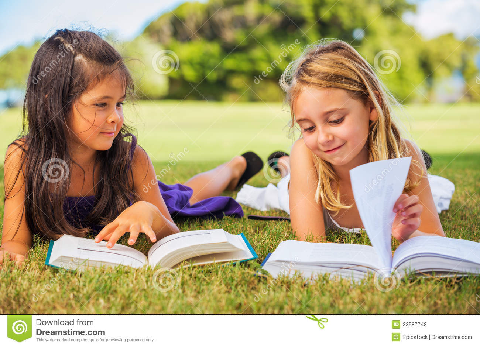 Kids Reading Books Royalty Free Stock Photos Image 33587748