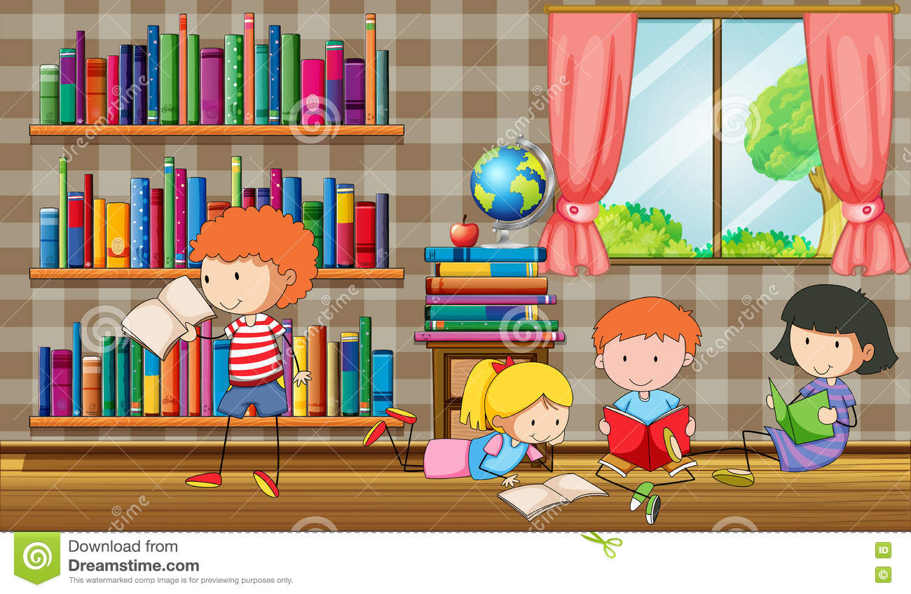 Kids Library Stock Illustrations 4 455 Kids Library Stock Illustrations Vectors Clipart Dreamstime