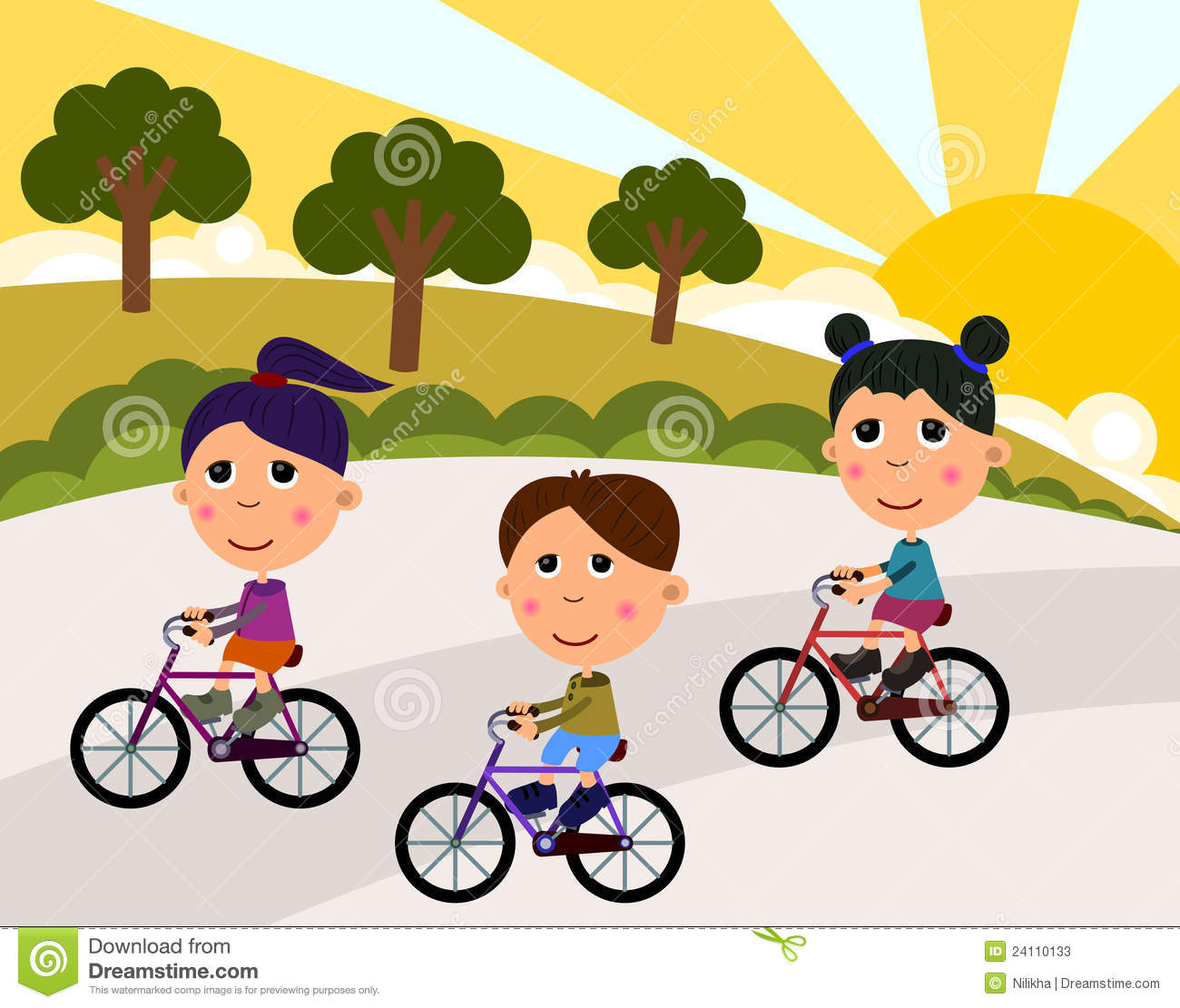 Bicycle Drawing For Kids