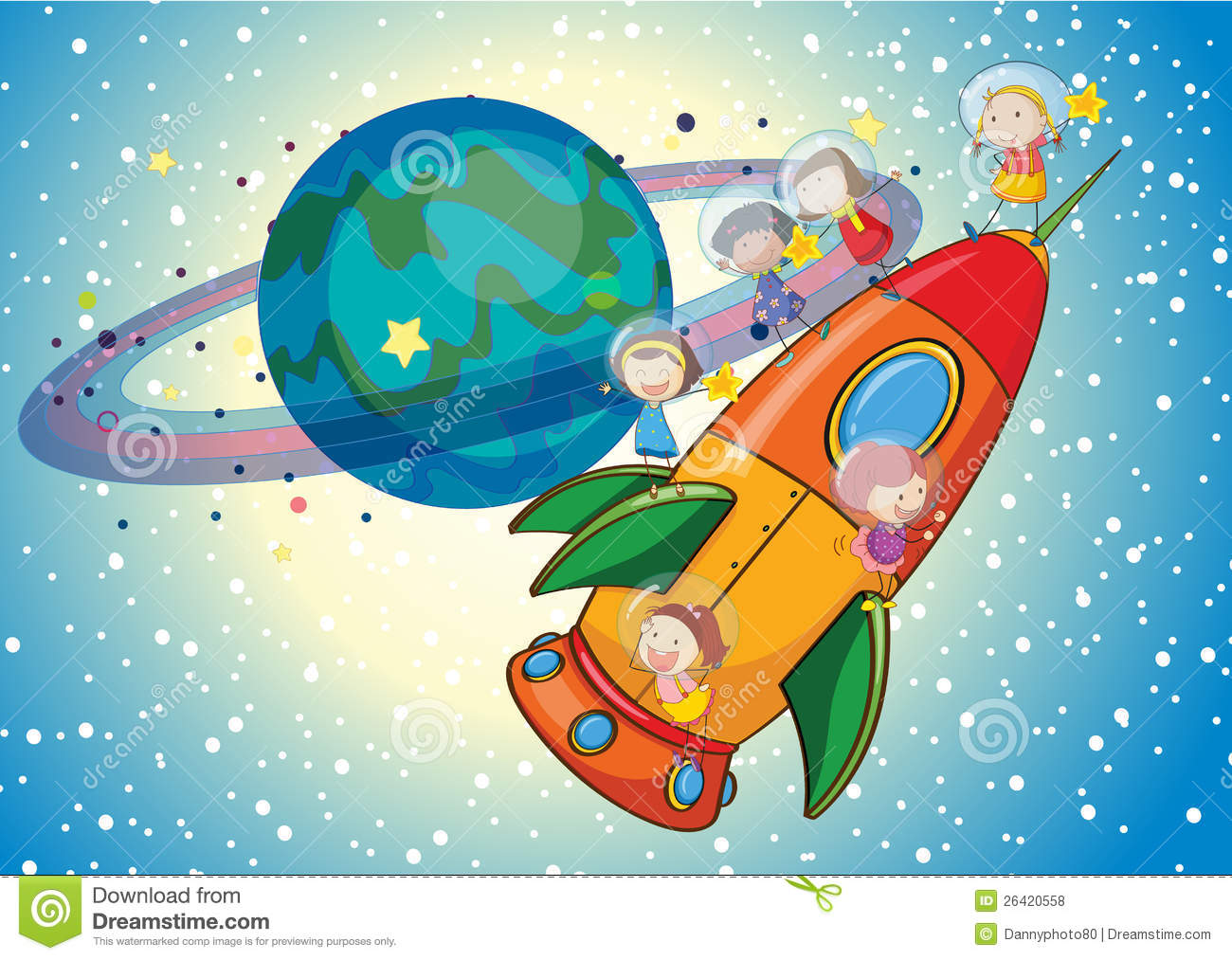 kids on a rocket royalty free stock photos image 26420558