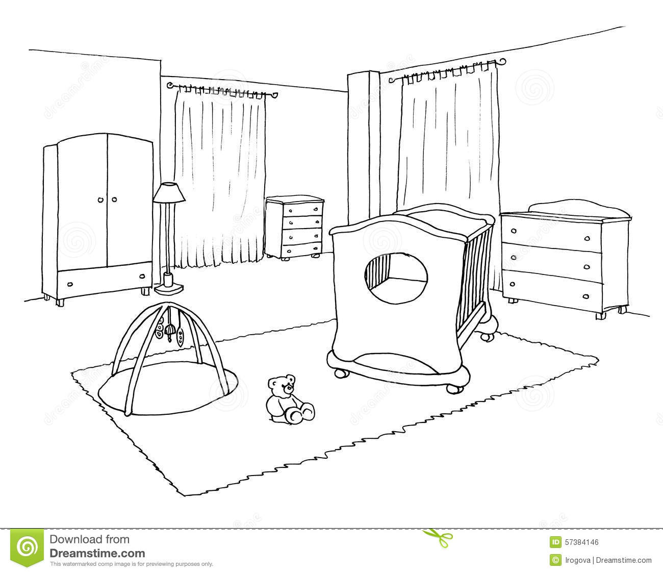 bedroom clipart black and white. kids bedroom drawing messy room clipart black and white design