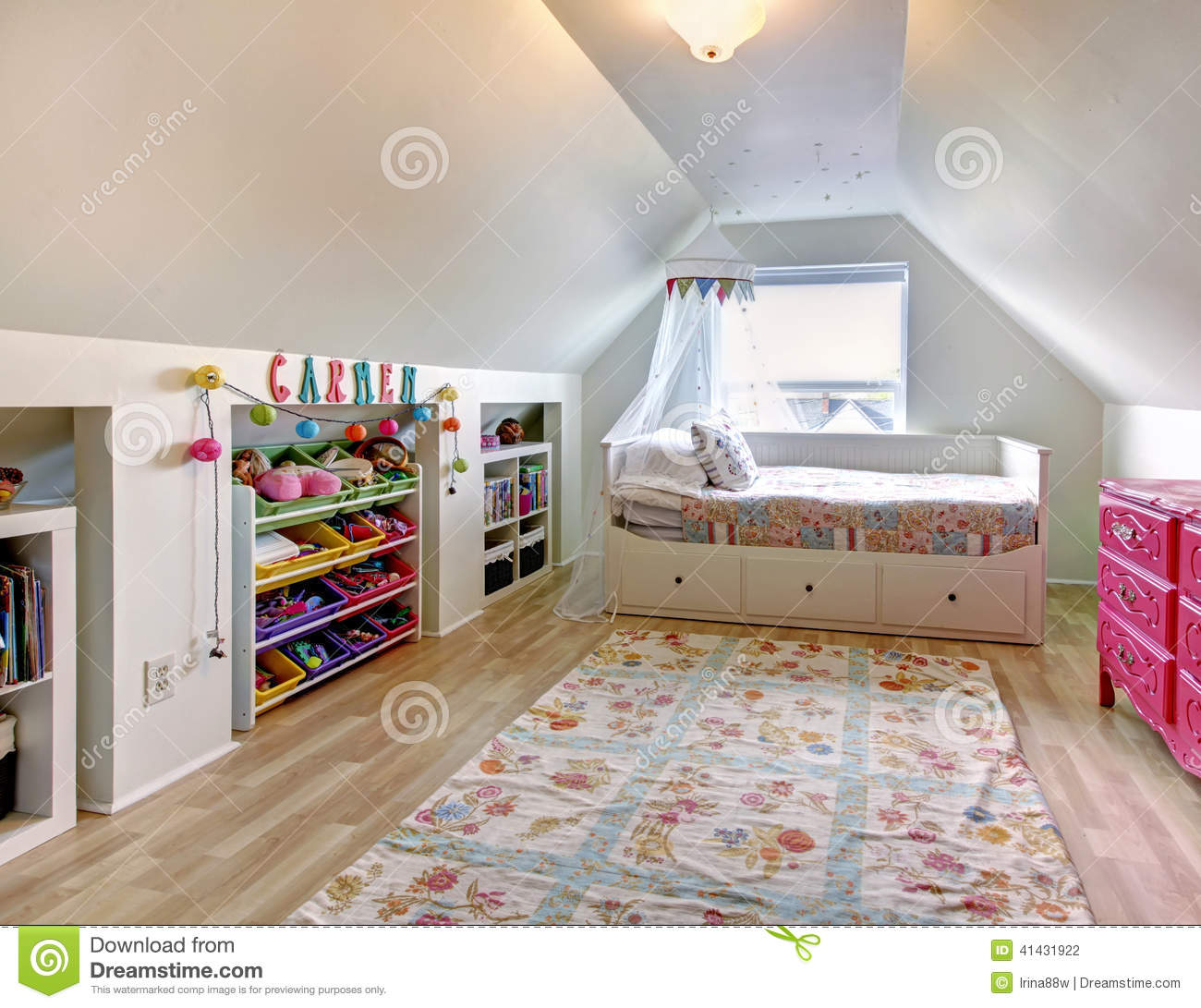 Kids room in old house stock photo image of design for Flooring for child s bedroom
