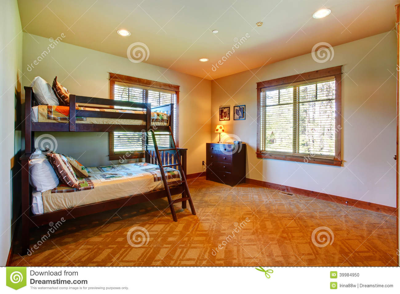 Kids Room With Two Level Bed Stock Photo Image 39984950