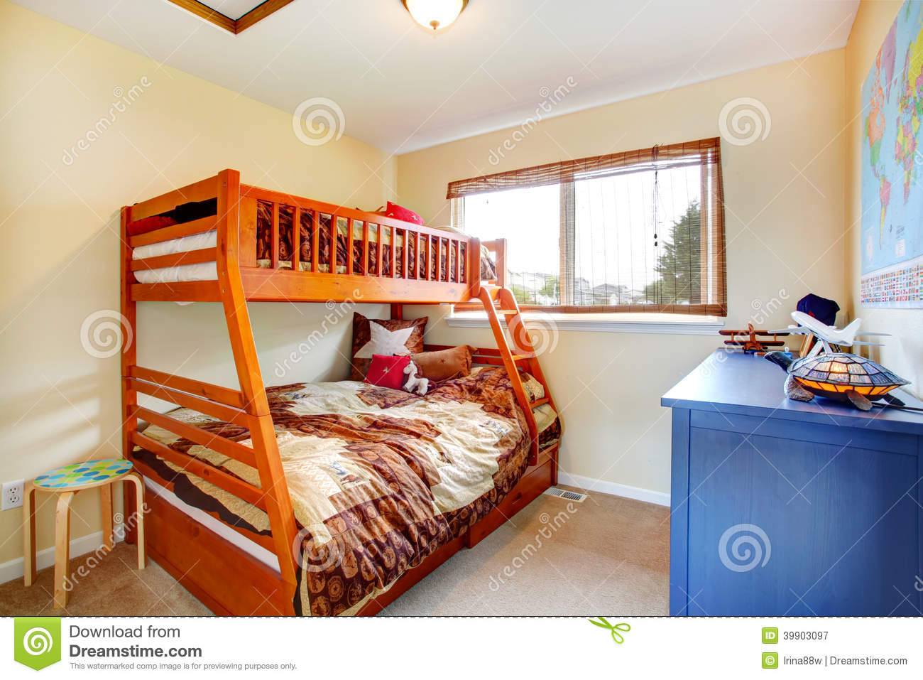 Kids Room With Two Level Bed Stock Image Image 39903097