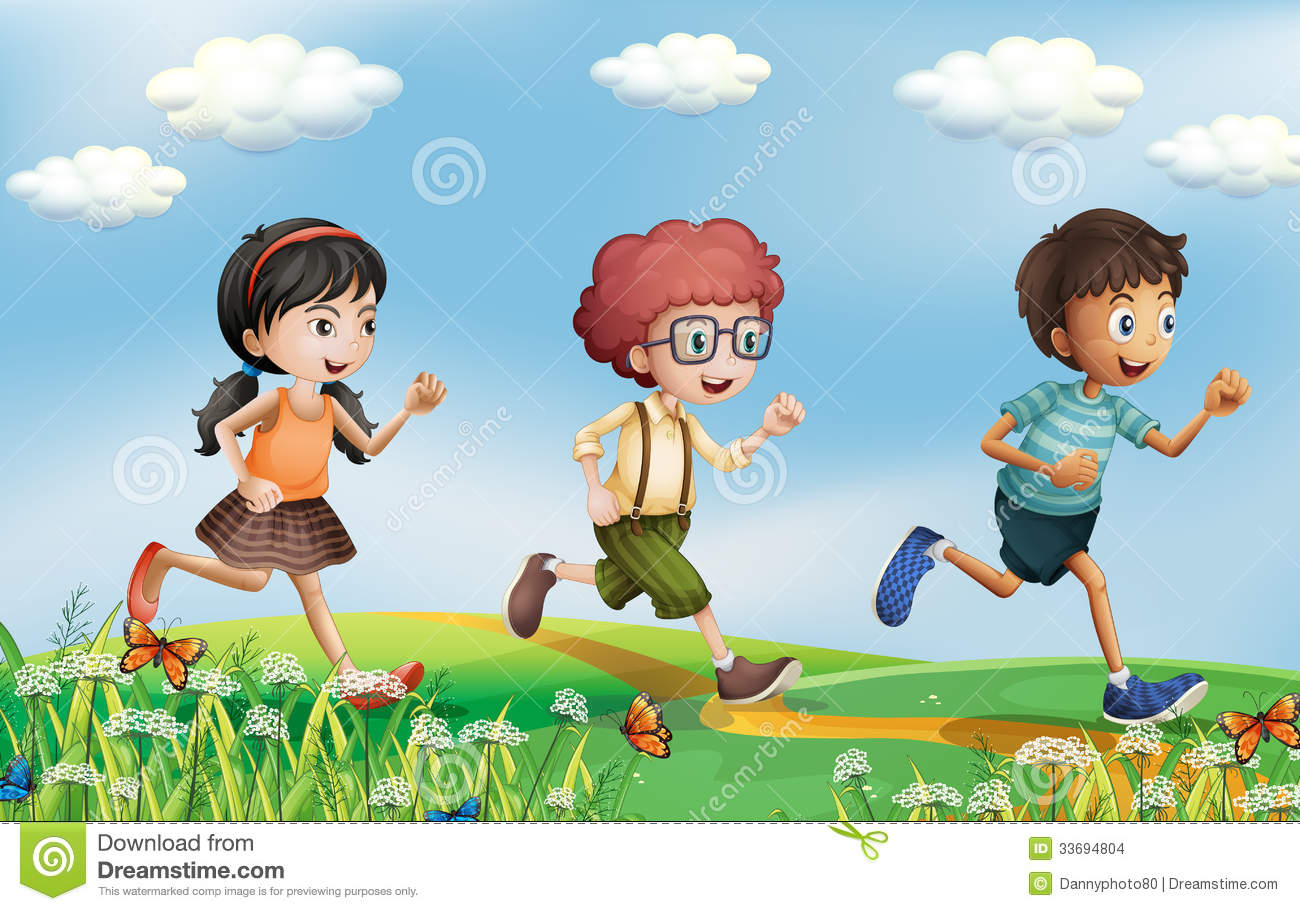 kids running at the hills stock vector image of green free garden clipart graphics free clipart garden tools