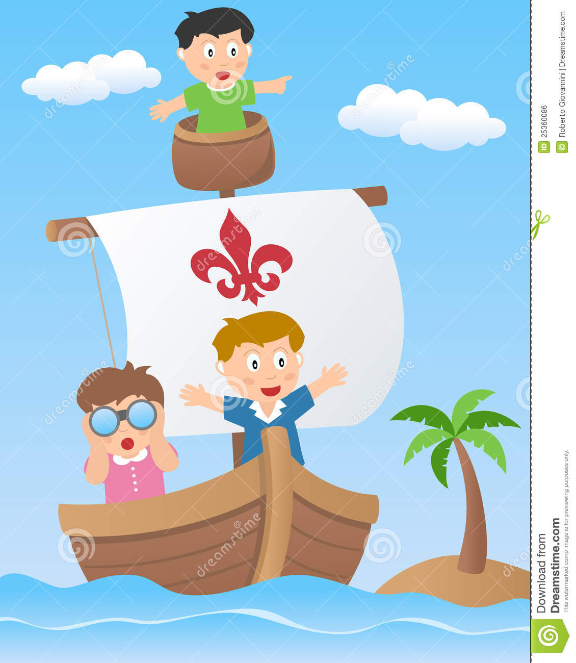 Kids on a Sailing Boat