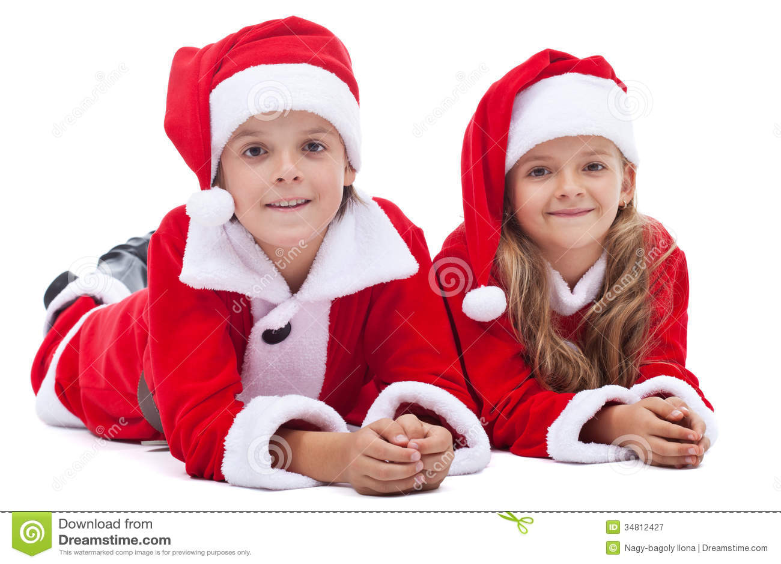 royalty free stock photo - Kids Santa