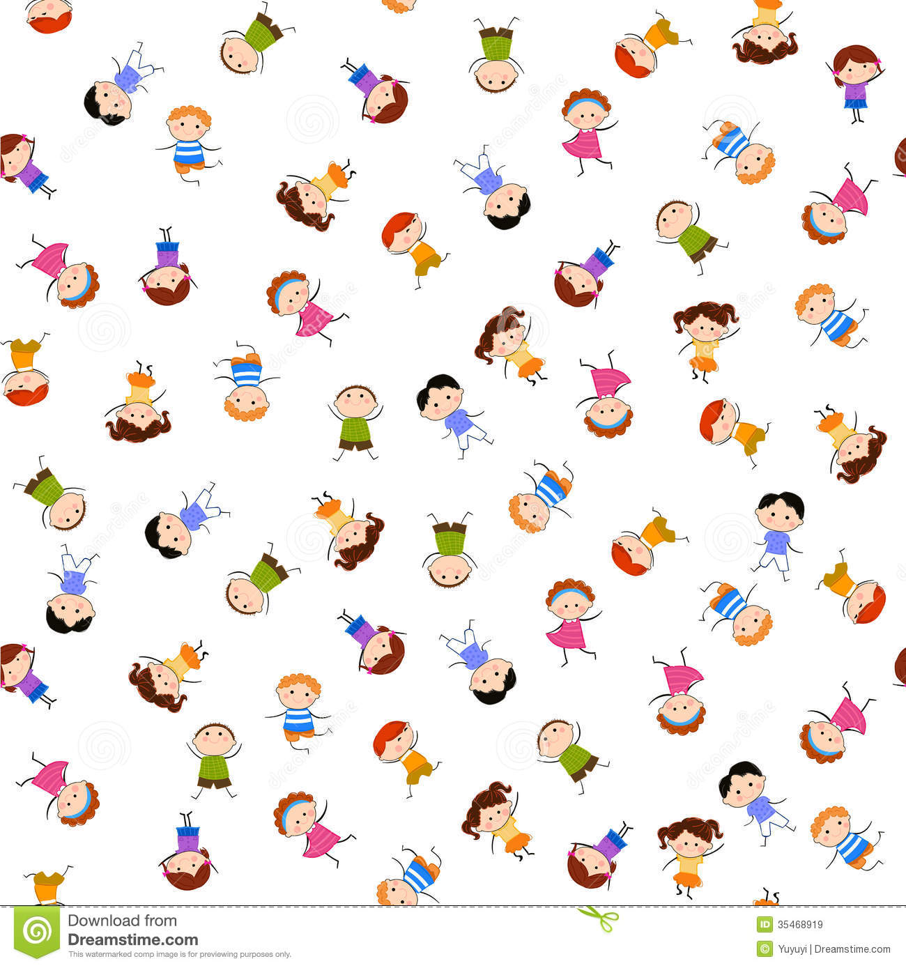Kids Seamless Pattern Background Royalty Free Stock Images