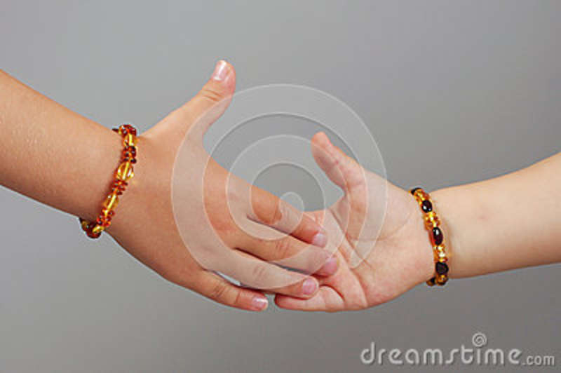Kids Shaking Hands Body Part Concept Stock Image - Image ...