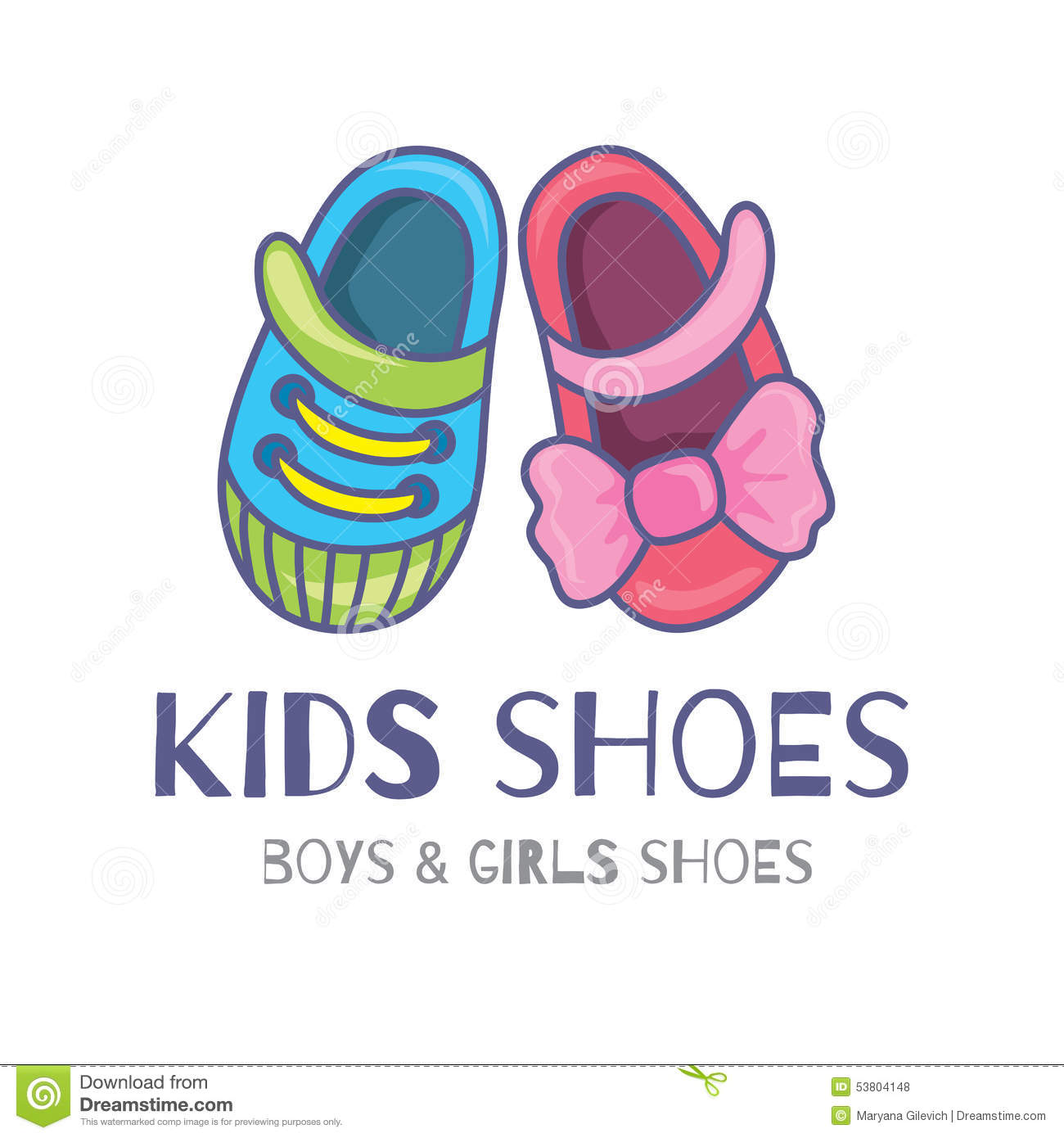 Kids shoes stock vector. Illustration of trade, shoe ...