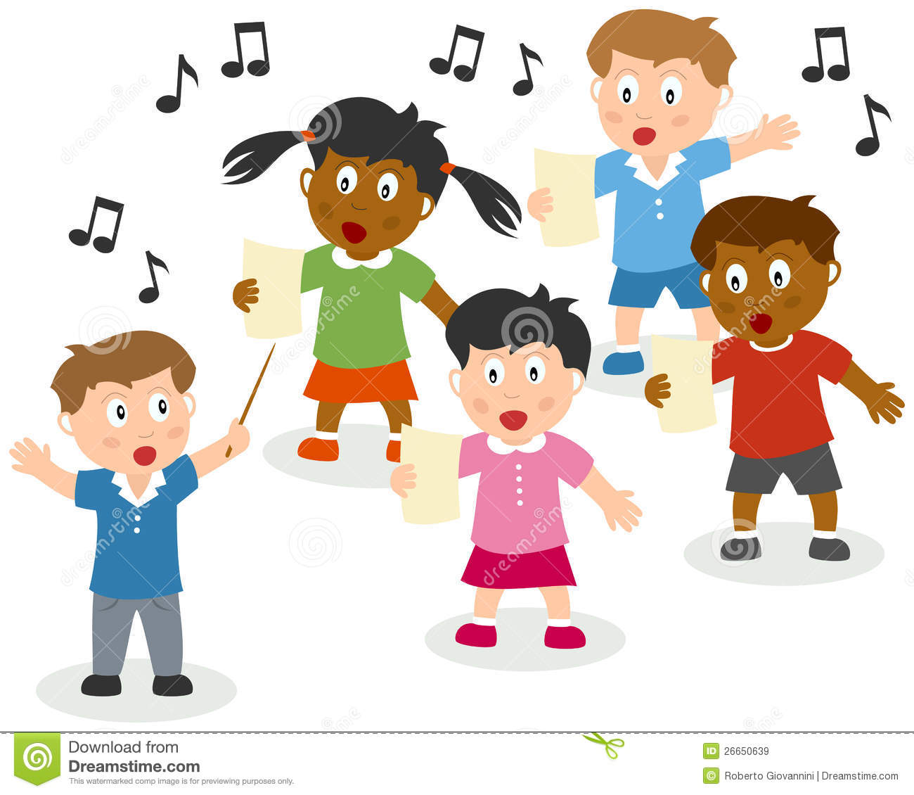 Kids singing clip art kids singing royalty free