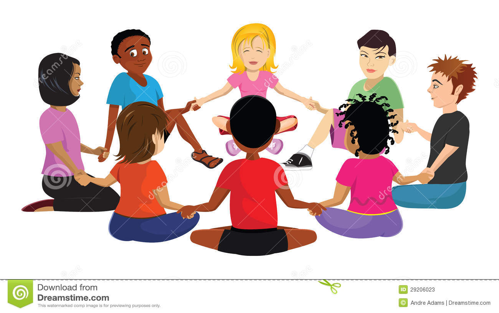 Kids Sitting Circle Stock Illustration Illustration Of Circle 29206023
