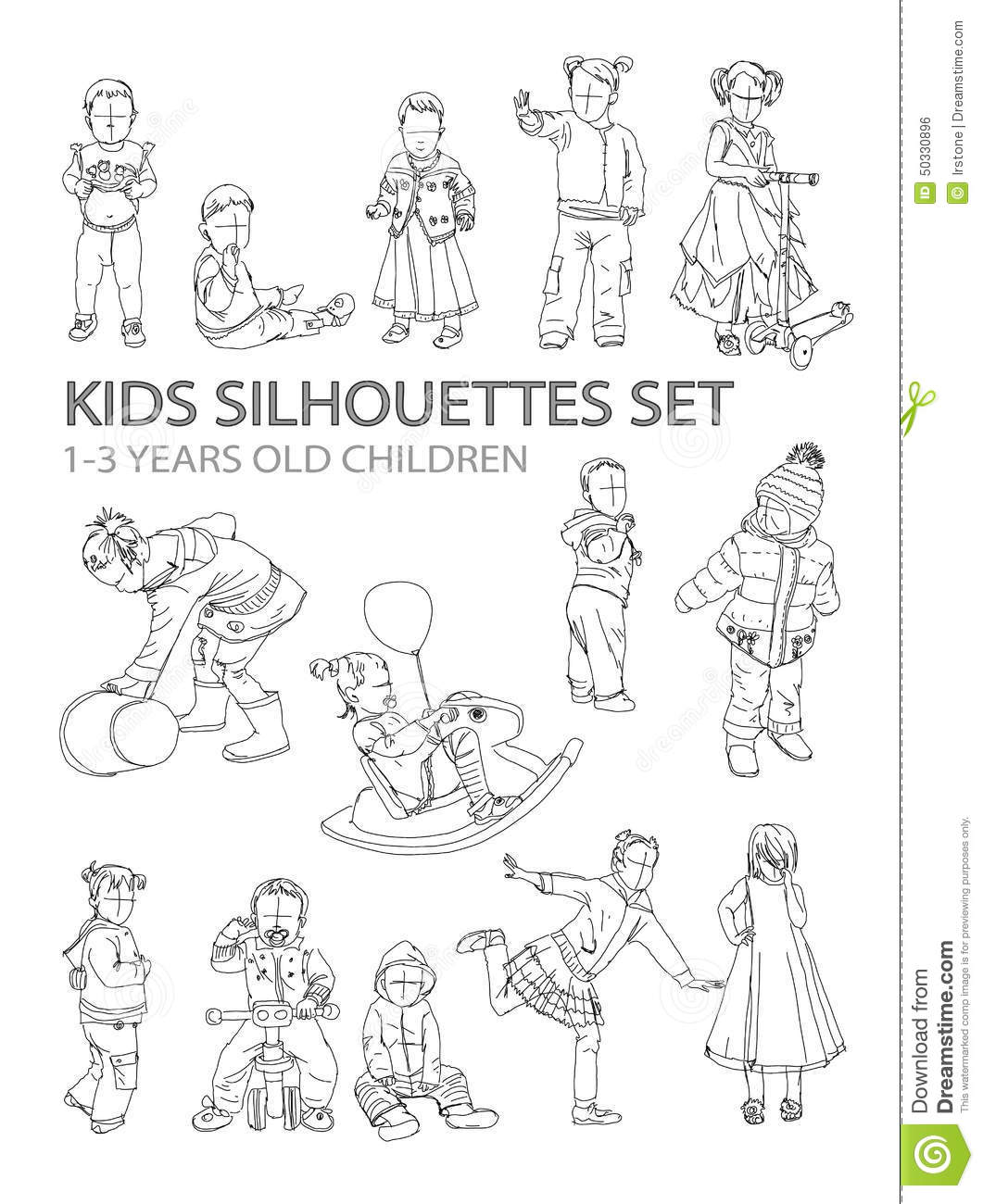 kids sketch silhouettes stock illustration illustration of city
