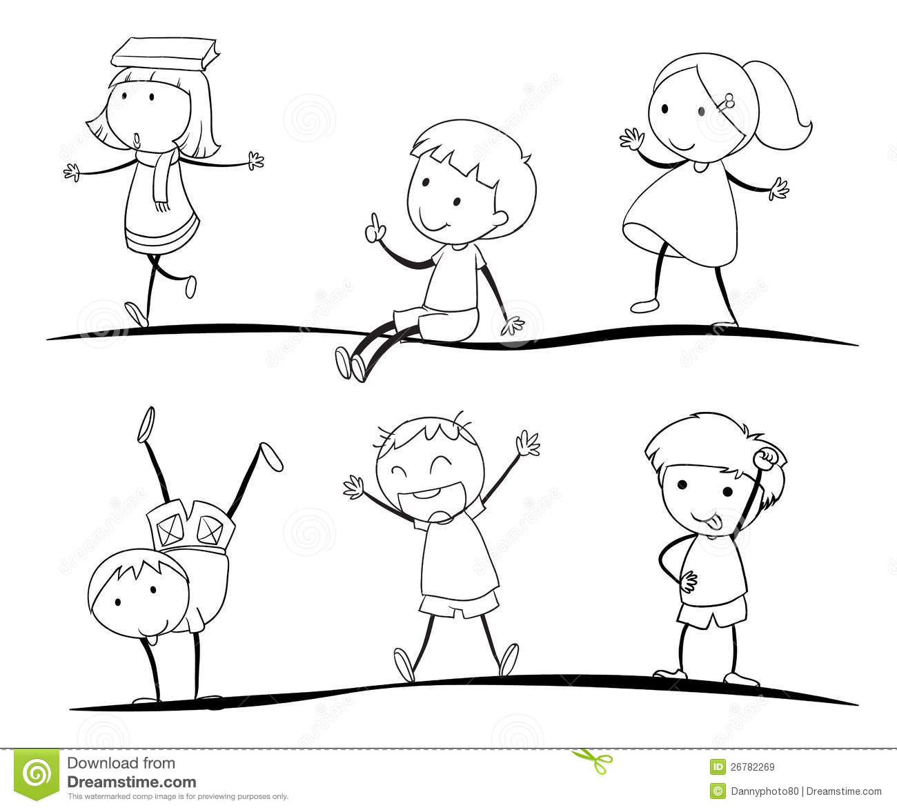 kids sketches royalty free stock images - Kids Sketches