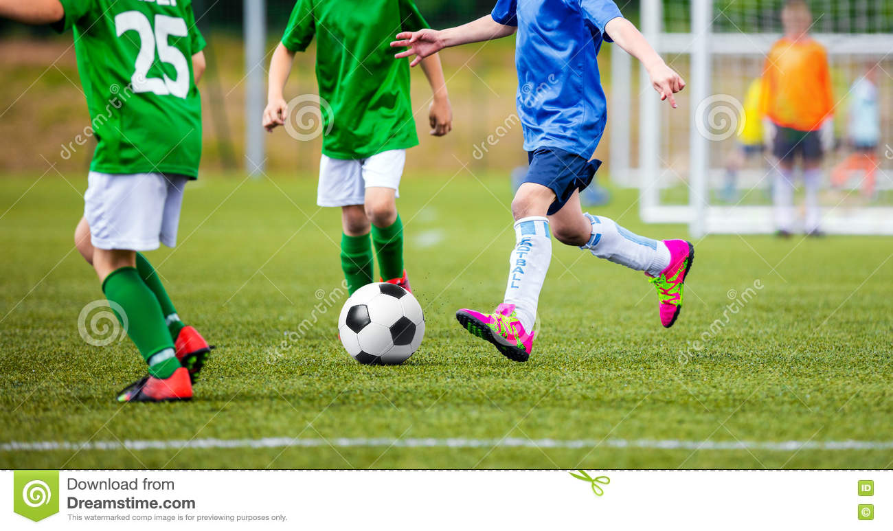 Kids Soccer Game. European Football League For Youth Teams