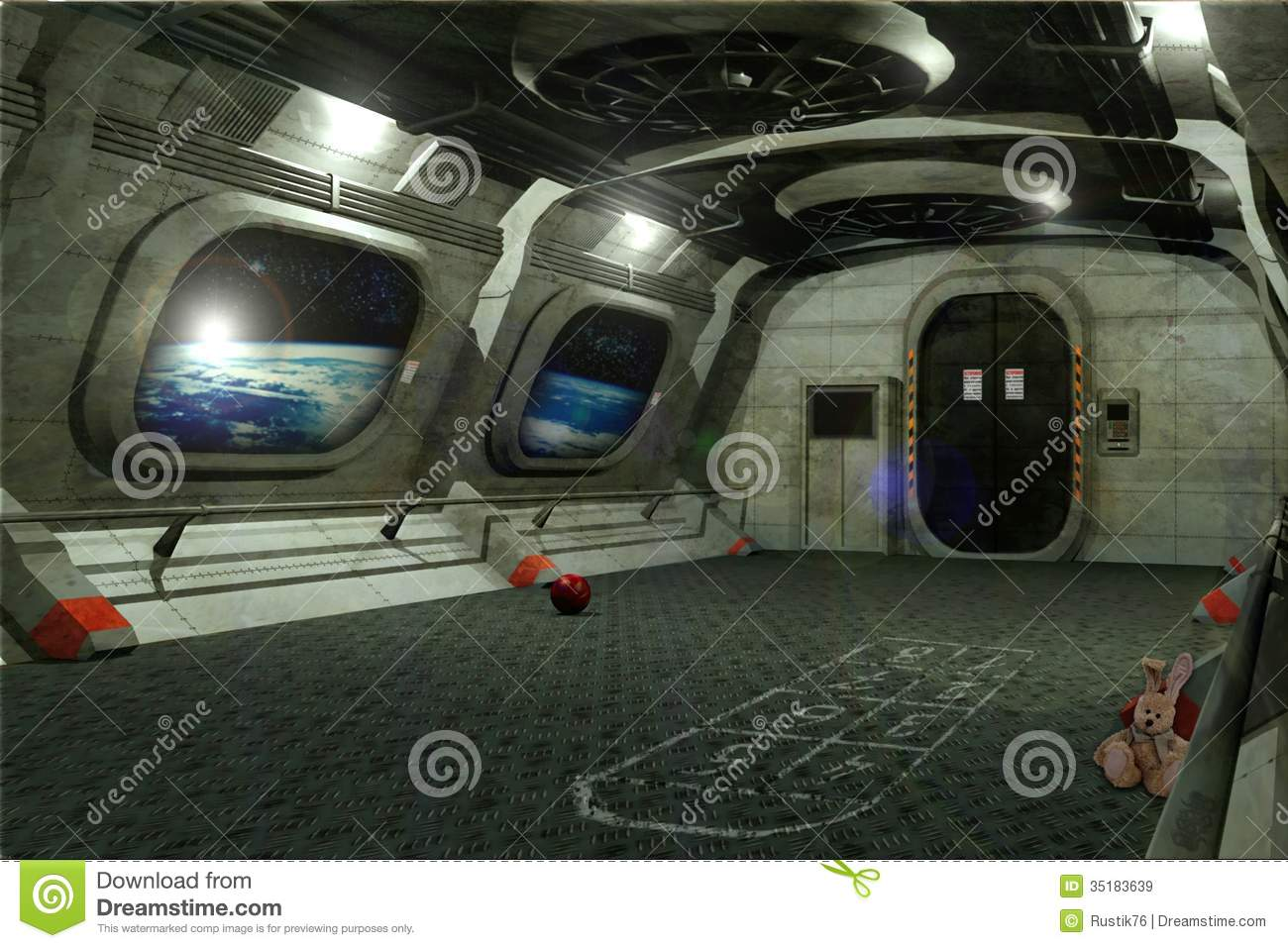 Kids In Space Stock Illustration Image Of Ground Metal - Space kids room