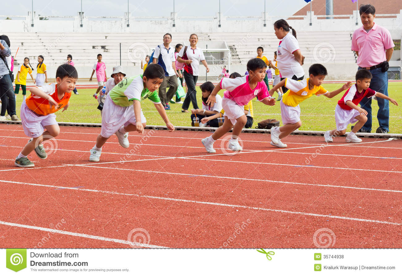 Kids Sport Day's Event Editorial Stock Photo - Image: 35744938