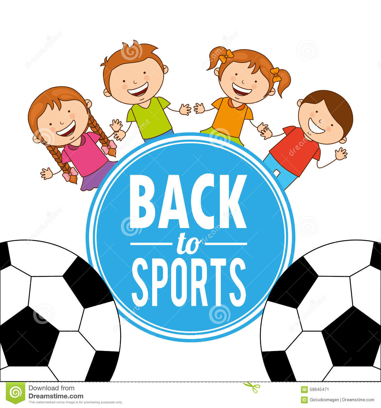 Children S Youth Sports: Kids Sports Stock Vector