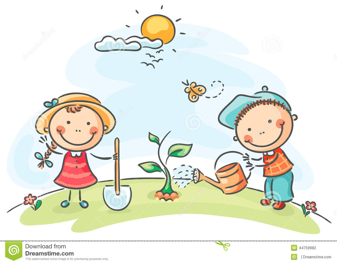 kids spring activities stock photography - Spring Images For Kids