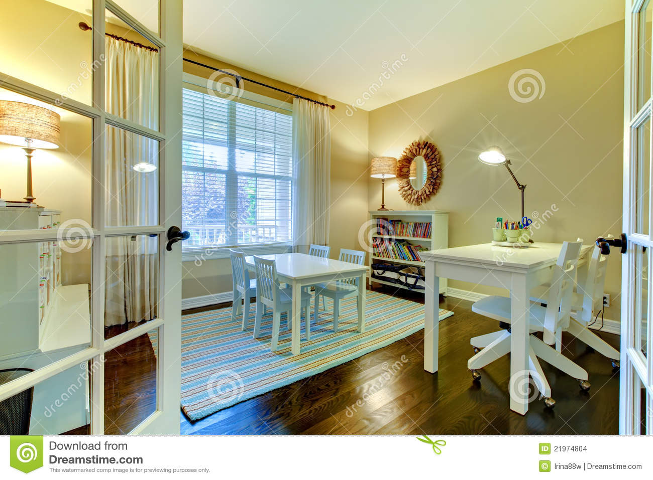 Kids Study Room Or Home School Class Interior Stock Photo Image