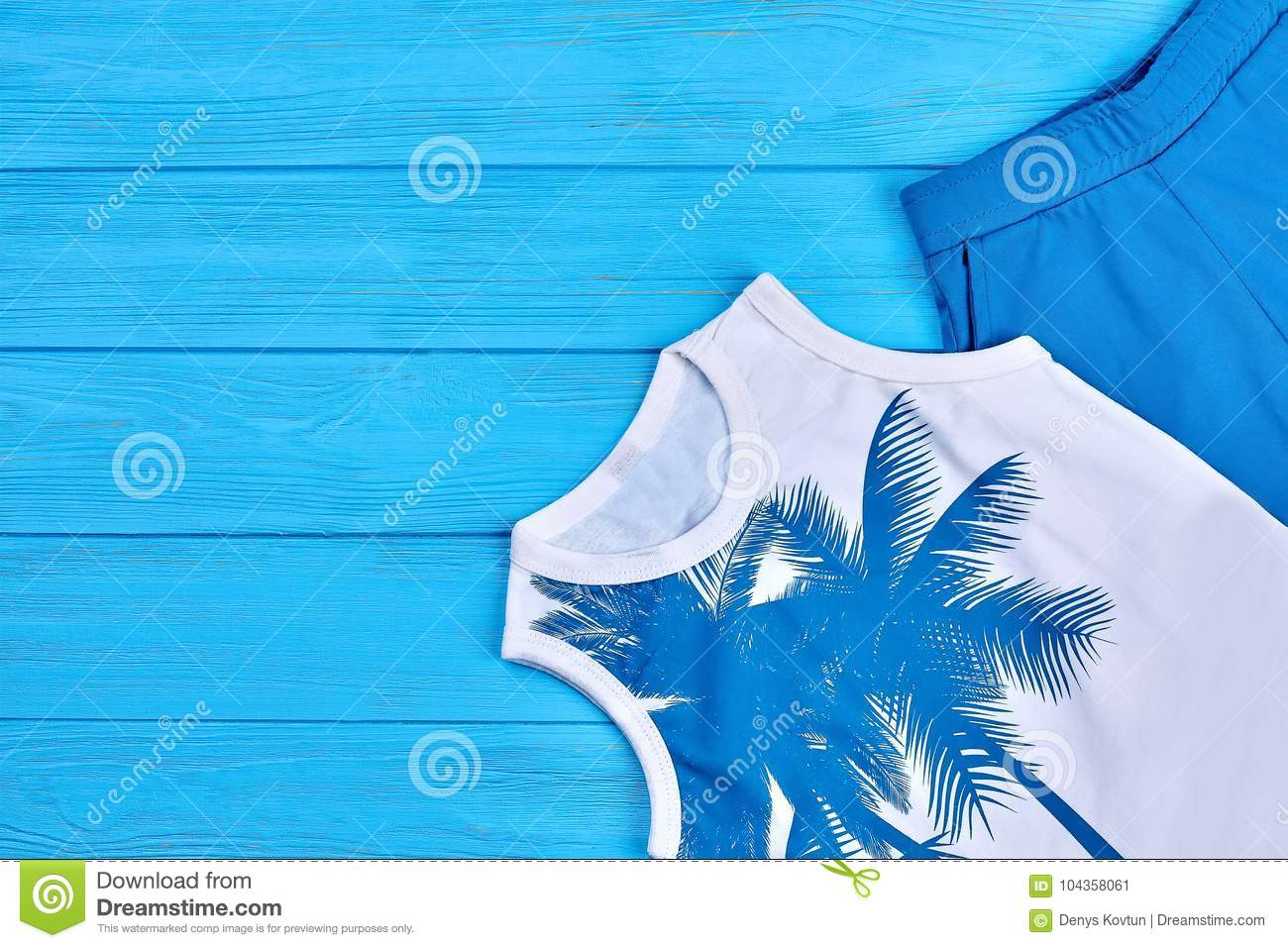 fb771df61d1b Kids Summer Cotton Garment. Stock Image - Image of baby