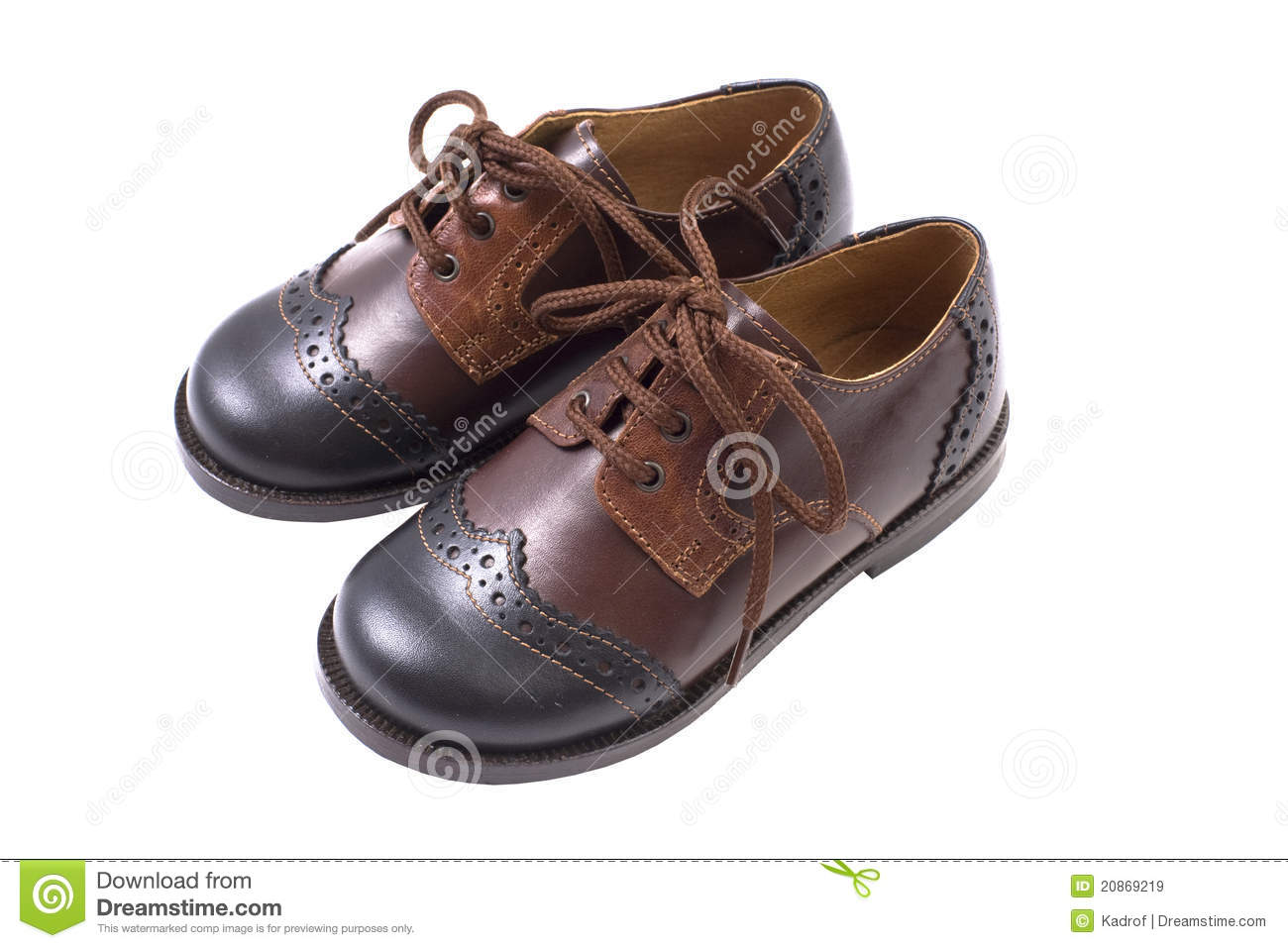 Kids Summer Leather Brown Shoes Royalty Free Stock Photography ...