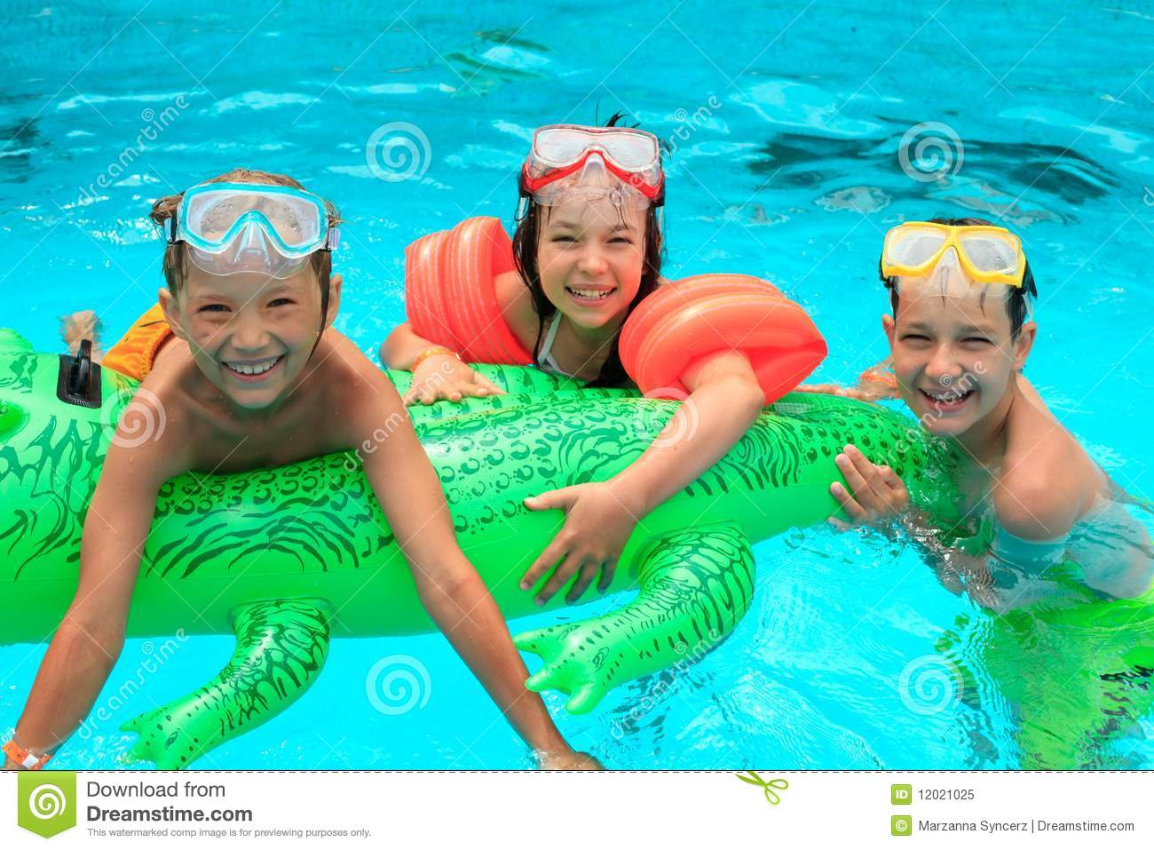 Kids in swimming pool royalty free stock photo image for Kids swimming pool