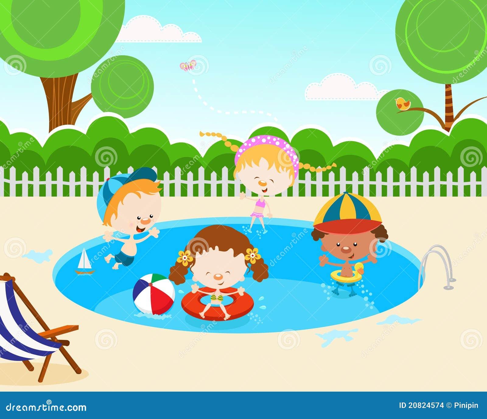 Kids swimming clipart  Kids Swimming Pool Stock Illustrations – 567 Kids Swimming Pool ...