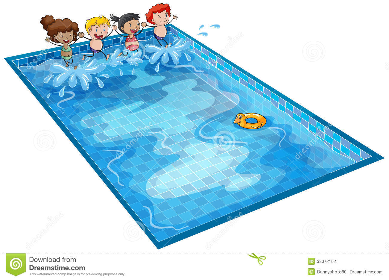 Swimming Pool Clip Art : Kids in swimming tank stock vector illustration of lady