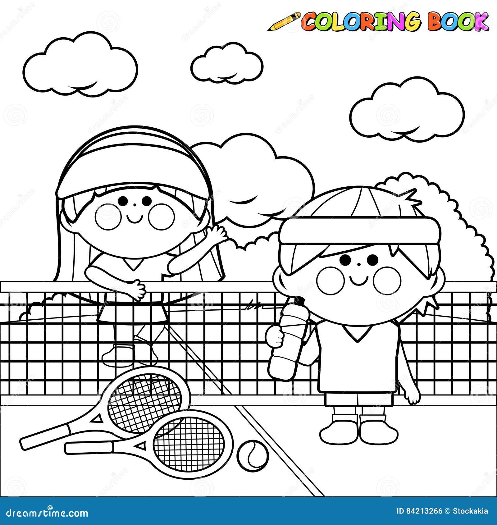 Kids Tennis Players At Tennis Court