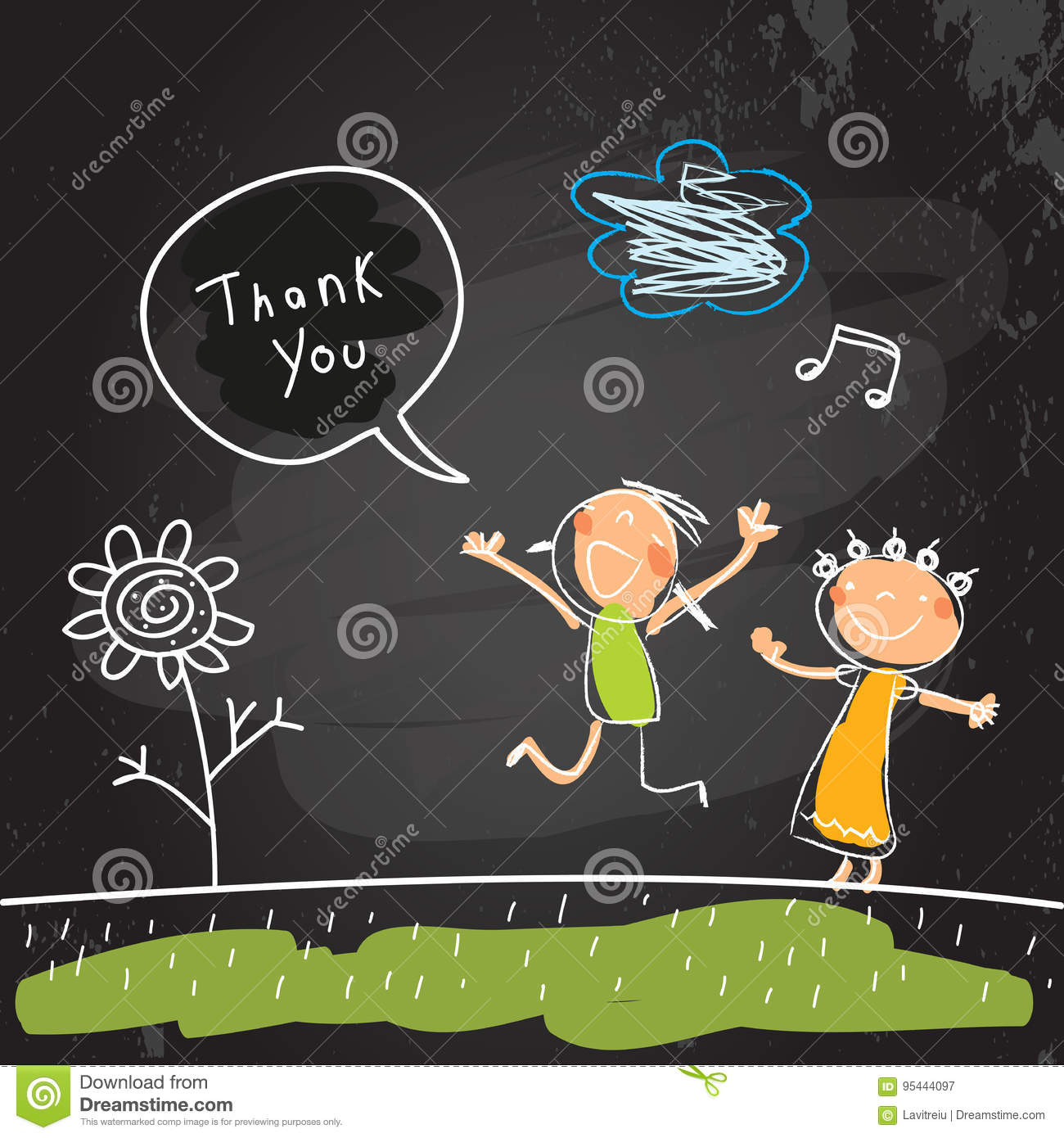 Kids thank you card