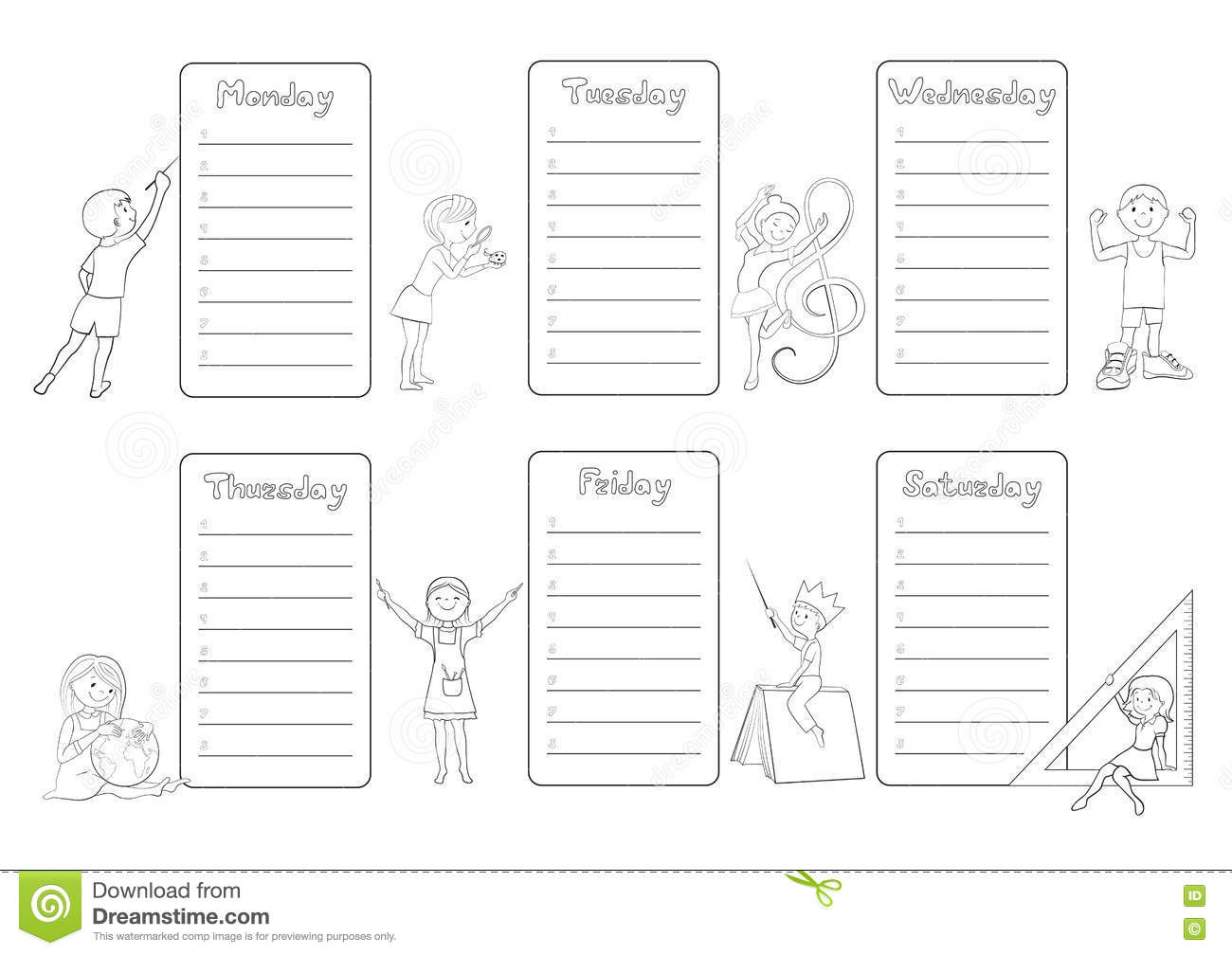 weekly planner for students