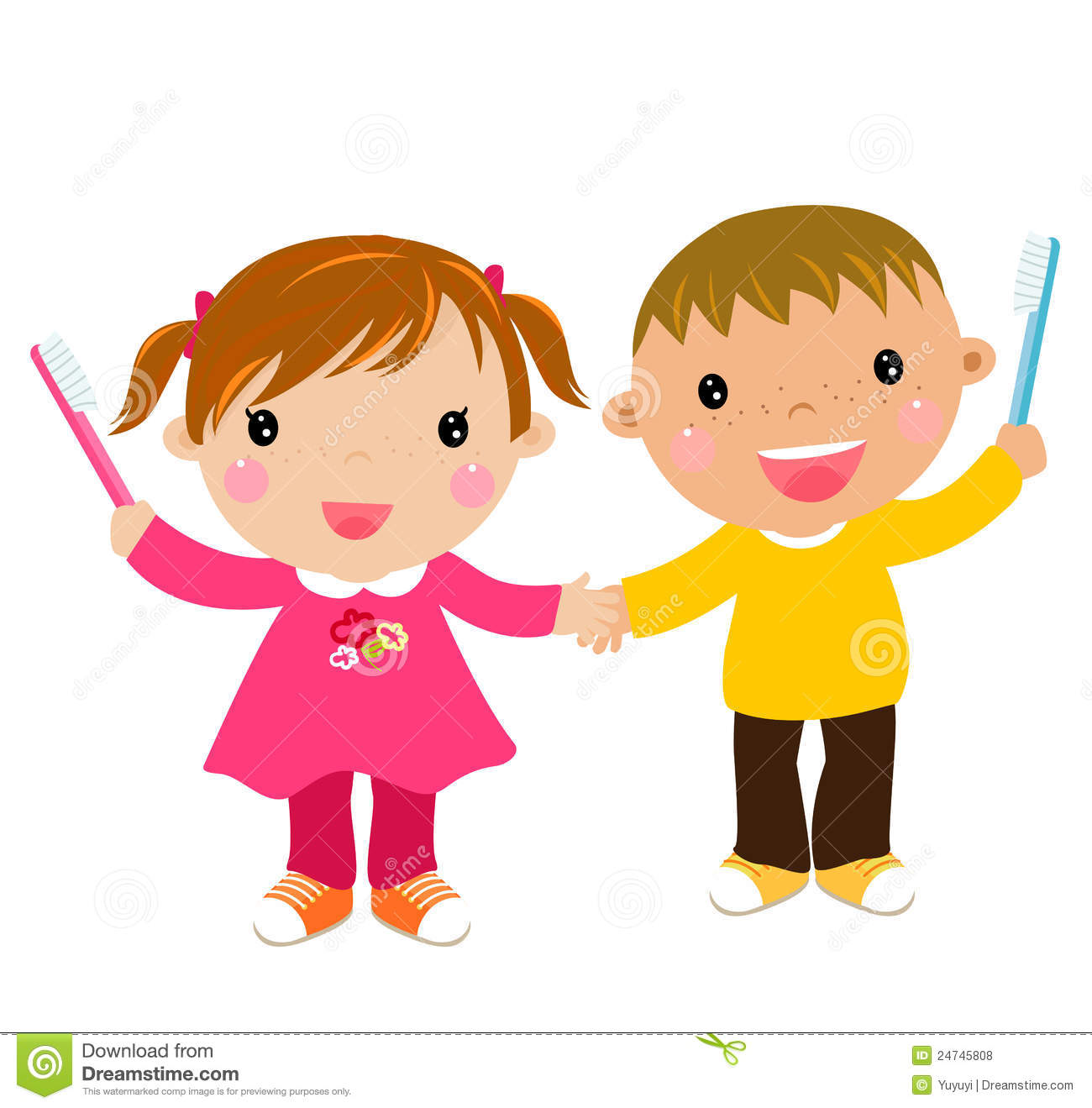 Royalty Free Stock Photos  Kids with toothbrushKid Toothbrush Clipart